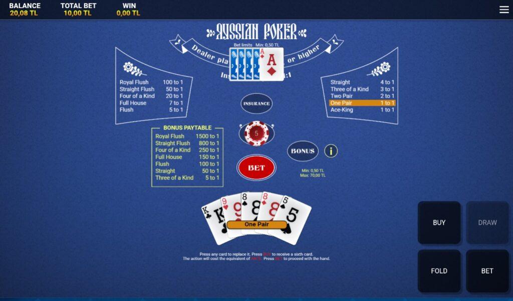 Tümbet Rus Pokeri Nasıl Oynanır