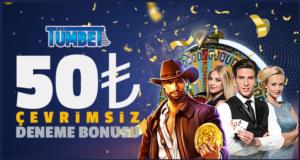 Tümbet'ten 50 TL deneme bonusu